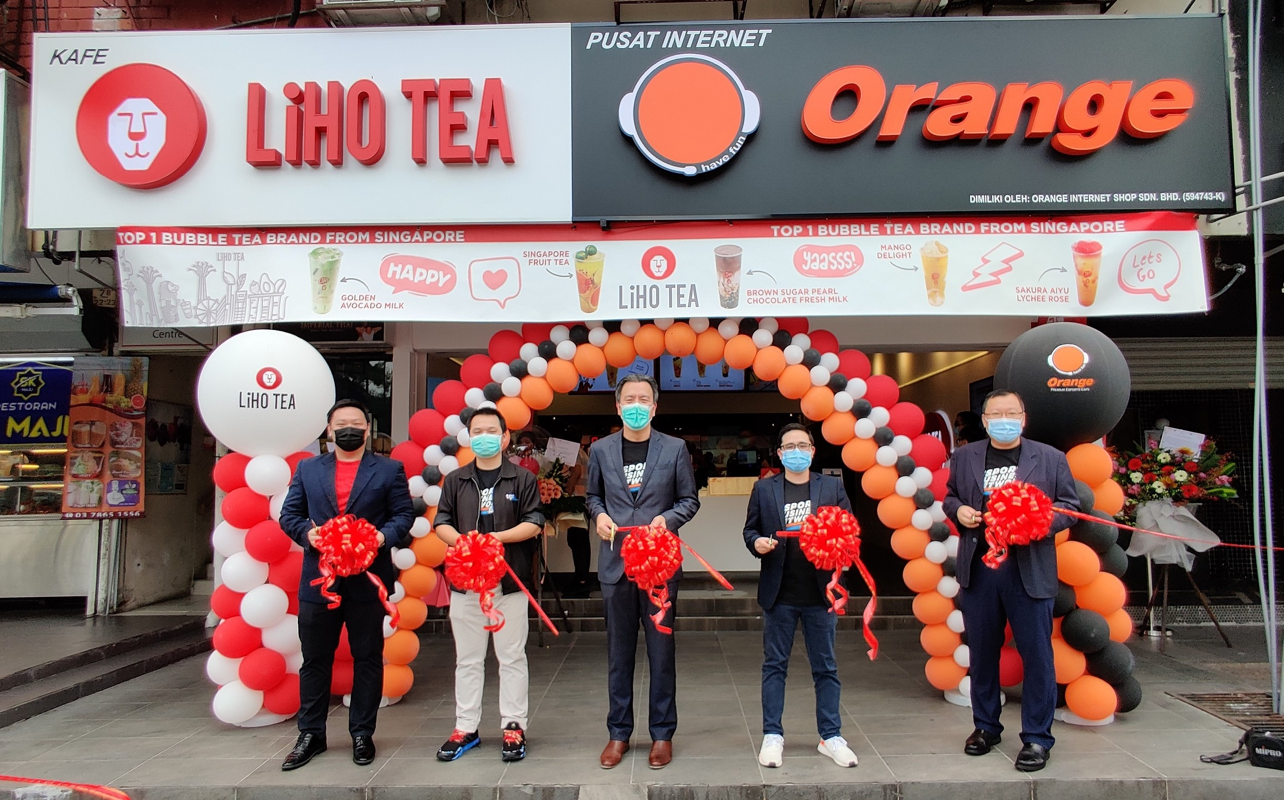 ORANGE ESPORTS CAFE PARTNERS WITH LIHO TEA TO LAUNCH FIRST ESPORTS AND LIFESTYLE CAFE